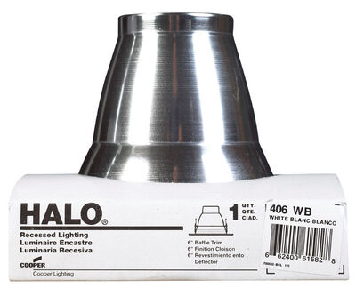 Halo 4 in. W White 4 in. Recessed Light Trim