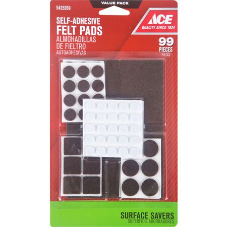 Ace Felt Assorted Surface Pad Brown 99 pk