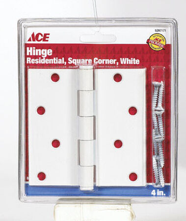 Ace Steel Door Hinge 4 in. L White 1 pk