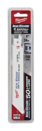 Milwaukee Ice Edge 6 in. L 24 TPI Bi-Metal Sawzall Blade 5 pk