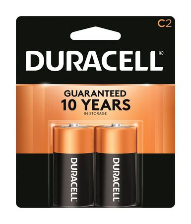 Duracell Coppertop C Alkaline Batteries 1.5 volts 2 pk