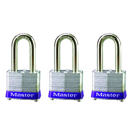 Master Lock 1-9/16 in. Keyed Alike 4-Pin Cylinder Laminated Steel Padlock