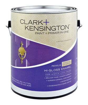 Clark+Kensington Paint and Primer In One Acrylic Latex Interior Exterior Hi-Gloss Midtone 1 gal.