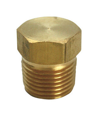 Ace 1/2 in. Dia. x 1/2 in. Dia. MPT To Compression To Compression Yellow Brass Hex Head Plug