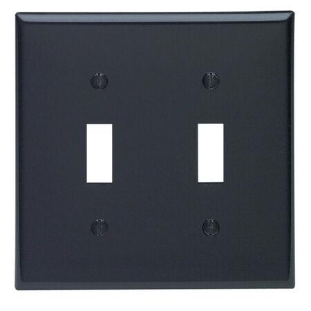 Leviton 2 gang Black Nylon Toggle Wall Plate 1 pk
