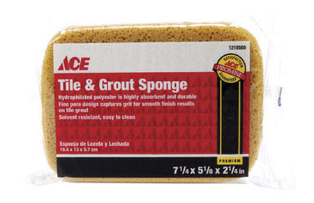 Ace Tile and Grout Sponge 7-1/4 in. L 1 pk