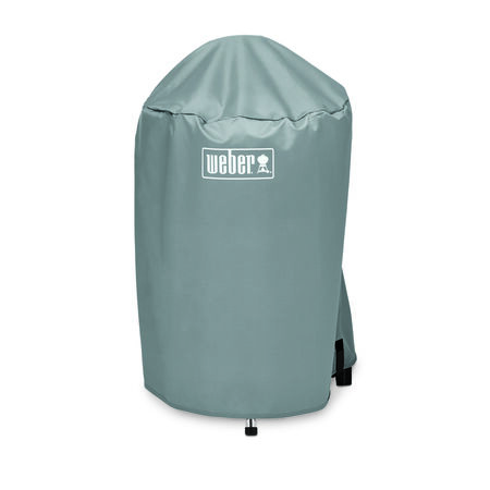 Weber Gray Kettle Grill Cover 35 in. H x 23 in. W x 20.5 in. D Fits 18 in. charcoal grills