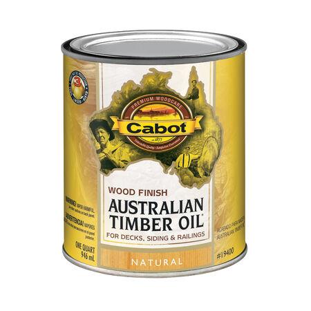 Cabot Transparent 19400 Natural Oil-Based Australian Timber Oil 1 qt.