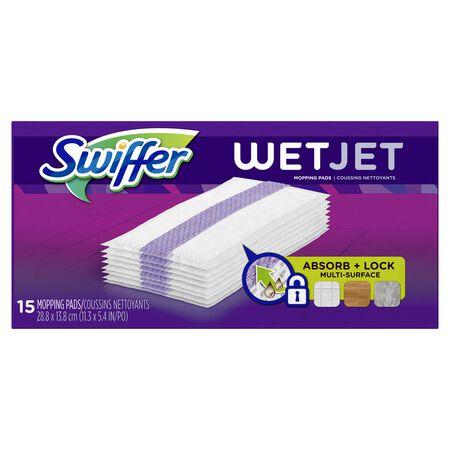 Swiffer WetJet 8 in. L Microfiber Mop Pad 15 pk