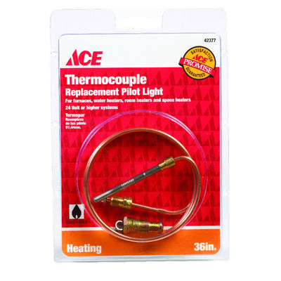 Ace Universal Thermocouple 24 volts 36 in. Copper