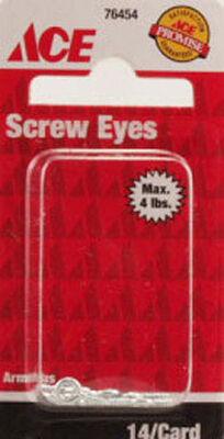 Ace 1/16 7/16 in. L Zinc-Plated Steel Screw Eye 14 pk