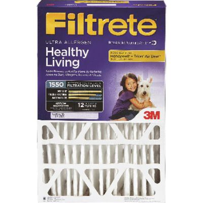 3M Filtrete 20 in. L x 25 in. W x 4 in. D Fiberglass Air Filter