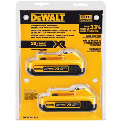 20V MAX Compact Battery with Bluetooth 2 Pack