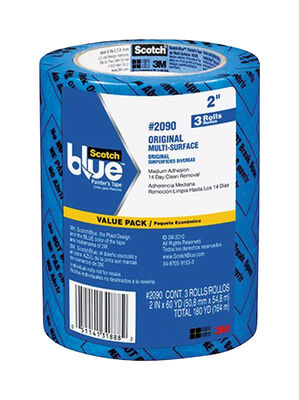 Scotch Blue 2 in. W x 60 yd. L General Purpose Painter's Tape Medium Strength Blue 3 pk