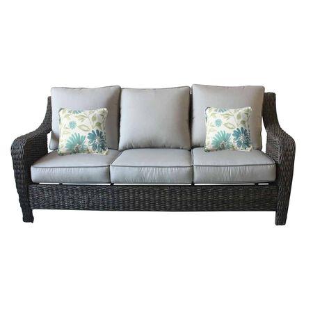 Living Accents 3 Brown Aluminum Sofa Gray