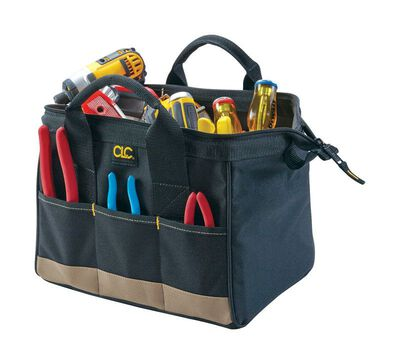 CLC Tool Bag 8 in. H x 8-1/2 in. W x 12 in. L 8 inside pockets 6 outside pockets