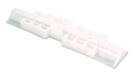 Prime-Line Top mount Bi-fold Snugger White 2 pk