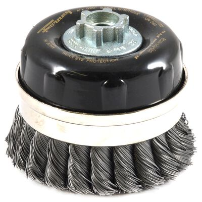 Forney 4 in. Dia. 5/8 in. Cup Brush