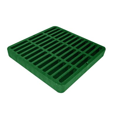 NDS 9 in. Green Polyolefin Square Heavy Duty Drain Grate