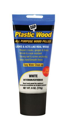 DAP Plastic Wood White Stainable Wood Filler 6 oz.