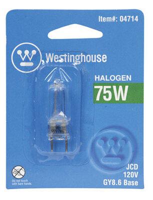 Westinghouse Halogen Light Bulb 75 watts Tubular JCD 3.06 in. L White 6 pk