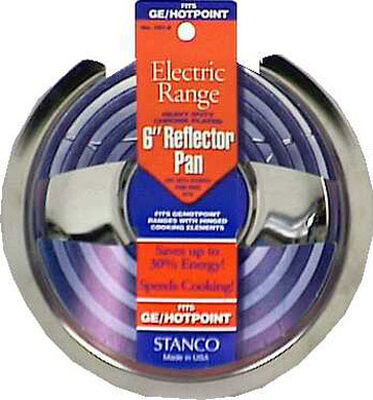Stanco Chrome-Plated Steel Range Reflector Pan 6 in.