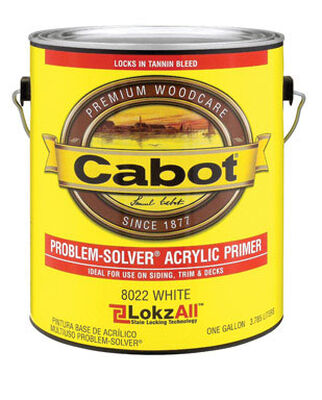 Cabot Problem-Solver Acrylic Outdoor Solid Color Wood Primer White 1 gal.