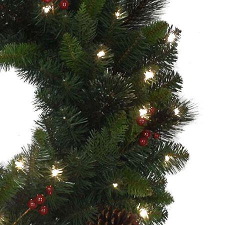Celebrations 26 in. Dia. LED Prelit Decorated Designer Pine Christmas Wreath