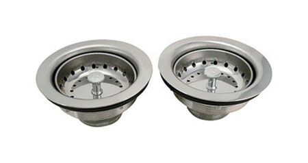 Keeney 4-1/2 in. Chrome Stainless Steel Basket Strainer Assembly