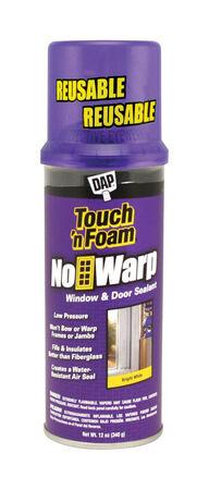 Touch 'n Foam No Warp White Polyurethane Window and Door Foam Sealant 12 oz.