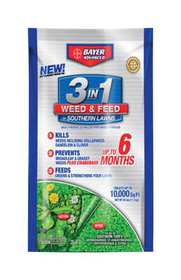 Bayer Advanced 3 In 1 Weed and Feed Spring Southern 10000 sq. ft. Granual 35-0-3