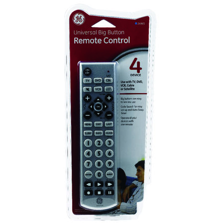 GE Universal Big Button Remote Control 4 Devices