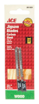 Ace Carbon Steel U-Shank 2-3/4 in. L Jig Saw Blade 19 TPI 2 pk