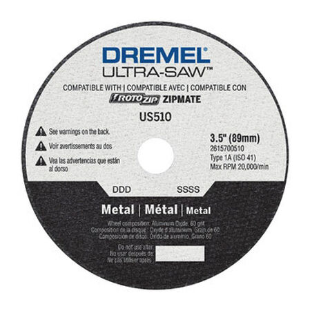 Dremel Ultra-Saw 3-1/2 in. Dia. x .049 in. thick Metal Cutting Wheel