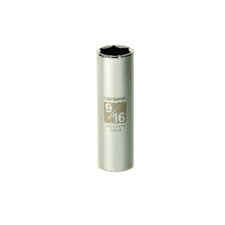 Craftsman 9/16 in. x 3/8 in. drive SAE 6 Point Deep Socket 1 pc.