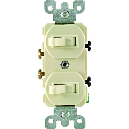 Leviton 1 15 amps Ivory Toggle Combination 1 Combination Switch
