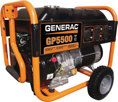 Generac Power Systems 5500 watts Portable Generator 10 hr.