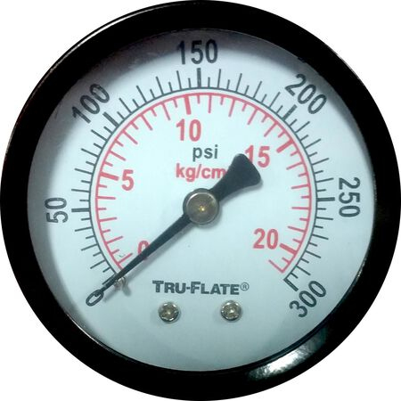 Tru-Flate Polycarbonate Air Line Gauge 1/4 in. NPT