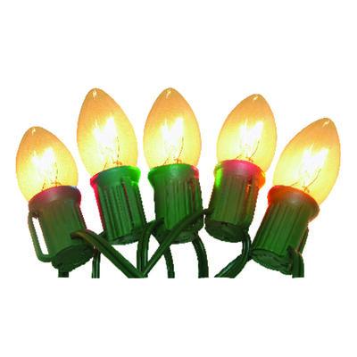 Celebrations Incandescent Ceramic C9 Outdoor Light Set Clear 25 ft. L 25 lights