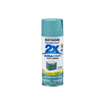 Rust-Oleum Painter's Touch Vintage Teal Satin 2x Paint+Primer Enamel Spray 12 oz.