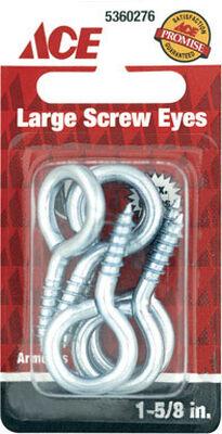 Ace 3/16 1-5/8 in. L Zinc-Plated Steel Screw Eye 6 pk