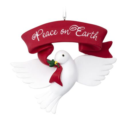 HALLMARK Dove Peace On Earth Christmas Ornament Multicolored Resin 2.8 in. 1 pk
