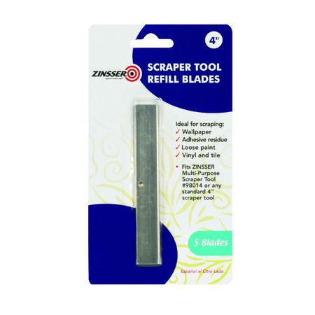Zinsser 4 in. W Steel Fixed Scraper Refill Blades