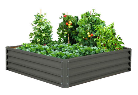 Raised Garden Bed-Galvanized Metal