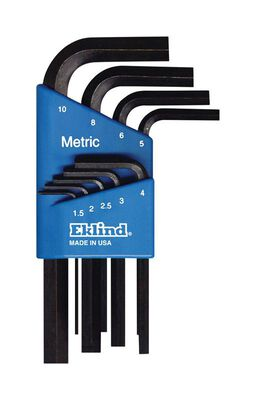 Eklind Metric Short Arm Hex-L Key Set 9 pc. 1.5-10mm