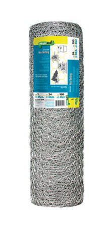 Garden Zone Poultry Netting 24 in. H x 150 ft. L 20 Ga. Silver