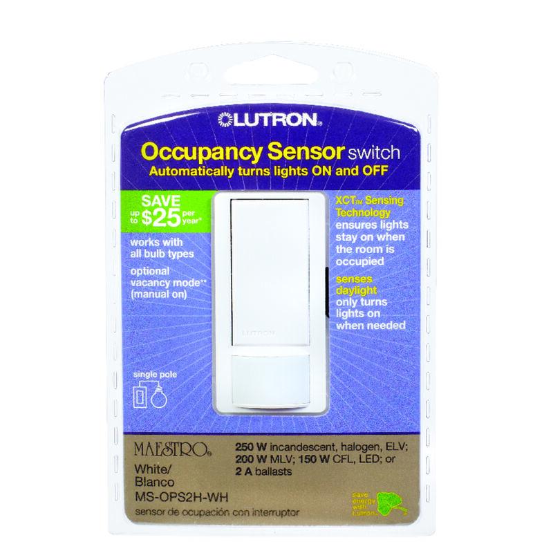Lutron Maestro Occupancy Single Pole Motion Sensor Switch