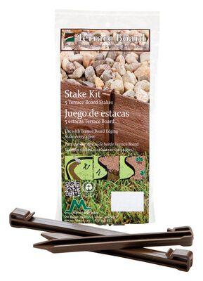 Master Mark Terrace Board 5 in. H x 5 in. L Brown 5 pc. Plastic Stake Kit