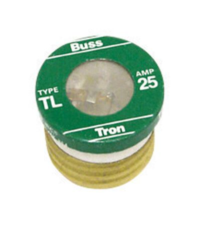 Bussmann Time Delay Plug Fuse 25 amps 125 volts 3 pk For Small Motor And Inductive Load Circuits