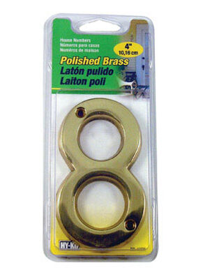 Hy-Ko Nail On Polished Brass Number 8 4 in.